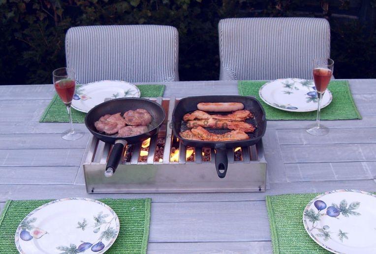 Fire pit table, Feuertisch, Vuurtafel