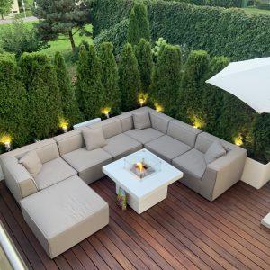 Feuertisch Milano Quadratisch in der Schweiz - Terras & Co